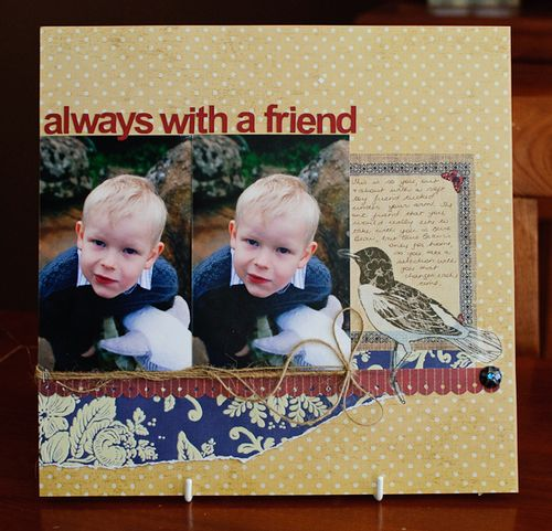 Facebook theme layout - always with a friend (1 of 3)
