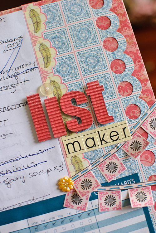List maker (3 of 4)