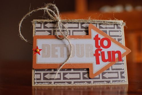 Card - Detour to fun (1 of 2)