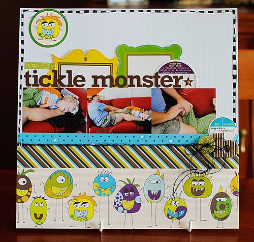 Daddy tickle monster (1 of 4)